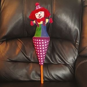 BOGO🌺RAREGymbo the Clown Large Cone Pop Up Puppet
